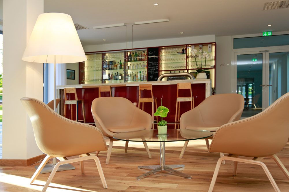 Campus bar in the green Parkhotel in Bad Aibling in the Bavarian Alps